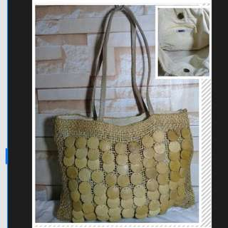 Summer Canvas Bag with Buttons