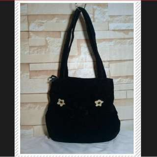 Black Soft Shoulder Bag