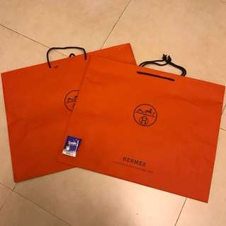 Hermes mega size paper bag