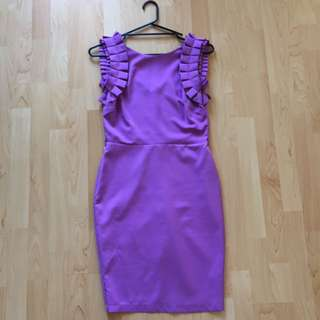 Lilac detailed knee length dress to fit size 8