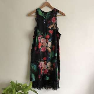 BN Floral and Lace Racer back Dress