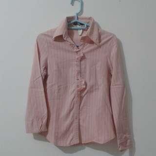 Pink Blouse and Black Shirt