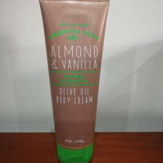 Almond & Vanilla Olive Oil Body Cream
