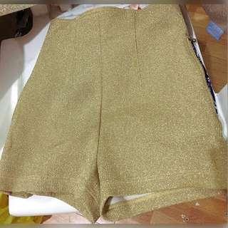 Gold High Waisted Shorts