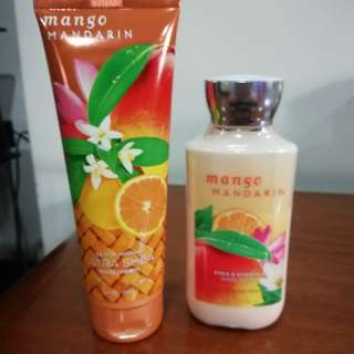 Mango Mandarin Lotion and Body Cream set