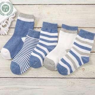 BN Baby Socks Boy Socks 5 Pairs Set 2-4Yo