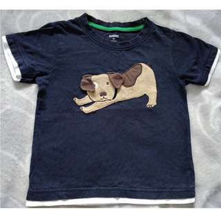 GYMBOREE PUPPY APPLIQUED BLACK TSHIRT