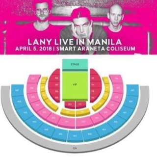 Lany live in Manila Day 2 Tickets (Patron B, adjacent ((2)))