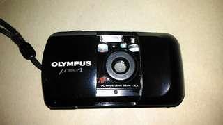 喵兔相機,OLYMPUS底片相機,底片相機,古董相機,相機,攝影機~OLYMPUS底片相機(功能正常,贈送電池)(已售出,待貨中)