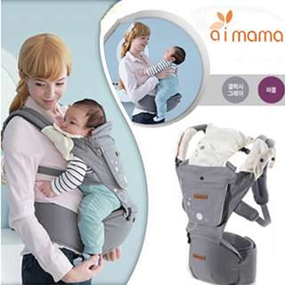 Korea Aimama Multifunctional Baby Hip Seat Carrier Front Back