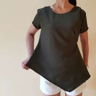 assymetrical blouse