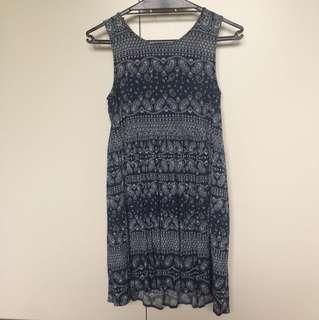 Blue Pattern Ripcurl Dress