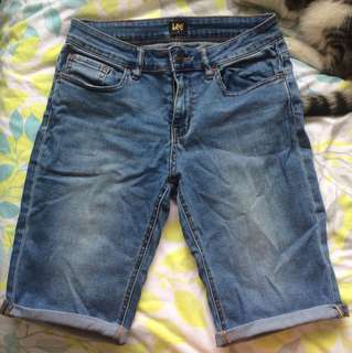 Lee Knee Length Denim Shorts
