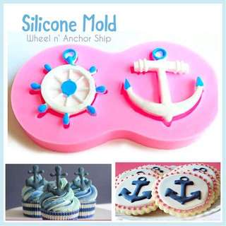 🚢 WHEEL • ANCHOR SHIP SILICONE MOLD TOOL for Pastry • Chocolate • Fondant • Gum Paste • Candy Melts • Jelly • Gummies • Agar Agar • Ice • Resin • Polymer Clay Craft Art • Candle Wax • Soap Mold • Chalk • Crayon Mould •