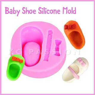 👟 BABY SHOE SILICONE MOLD TOOL for Pastry • Chocolate • Fondant • Gum Paste • Candy Melts • Jelly • Gummies • Agar Agar • Ice • Resin • Polymer Clay Craft Art • Candle Wax • Soap Mold • Chalk • Crayon Mould •