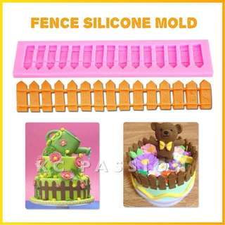 🎂 FENCE SILICONE MOLD TOOL for Pastry • Chocolate • Fondant • Gum Paste • Candy Melts • Jelly • Gummies • Agar Agar • Ice • Resin • Polymer Clay Craft Art • Candle Wax • Soap Mold • Chalk • Crayon Mould •