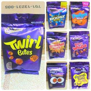 Cadbury Bites In Reclosable Packs