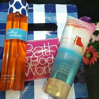 Bath and body works set