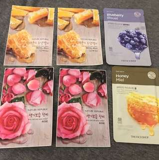 Face shop nature republic face masks