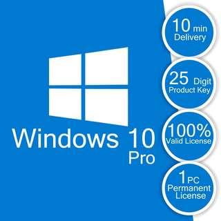 Windows 10 pro 25 Digit Product Key