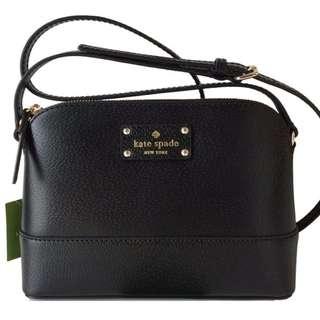Kate Spade New York Bay Street Hanna Black Crossbody Purse Handbag Mini