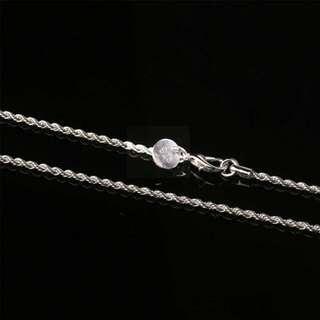 Rantai Silver (4mm) 16-24 Inch Ready Stock