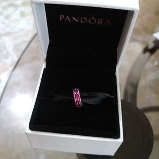 Pandora charm with synthetic ruby,  low price! (Authentic)