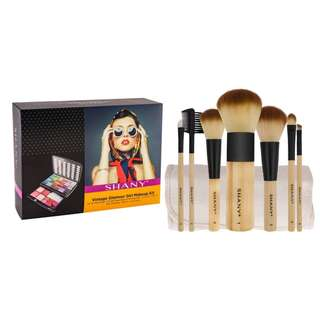 SHANY Glamour Girl Makeup Kit w/ SHANY Bamboo Makeup Brush Set Bundle