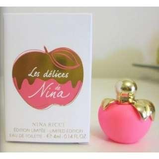 🆕 Nina Ricci Les Delices de Nina Limited Edition Miniature Perfume 4ml