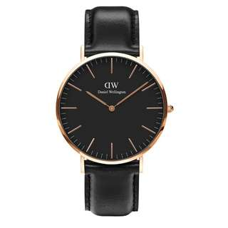 100% Original [CNY SALES] Daniel Wellington Watch Classic Black Collection Sheffield Rose Gold 36mm / 40mm Free Delivery