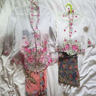 Kebaya/ Nonya set for both mother and daughter for CNY