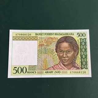 馬達加斯加早期紙鈔,全新直版,#115