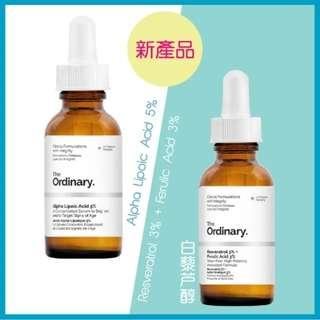 [清貨$80包平郵]The ordinary Alpha Lipoic Acid 5% & Resveratrol 3% + Ferulic Acid 3%