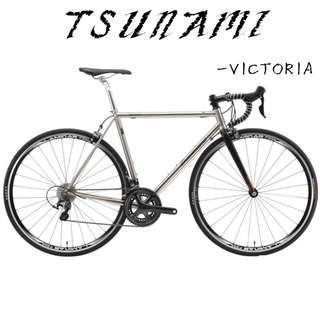Tsunami road bike Frameset/ Full bike - Victoria - Superlative steel frame: 1560g only, Perfect power transmission machine !!! Zealot of Steel frame 's collection.