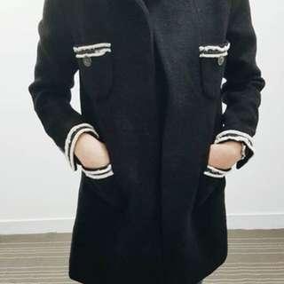 🚚 正韓 小香風羊毛大衣