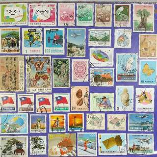 43 pcs Taiwan Different Used Stamps