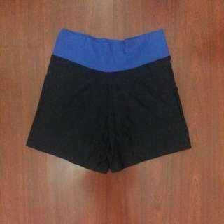 Black & Blue Cycling Shorts
