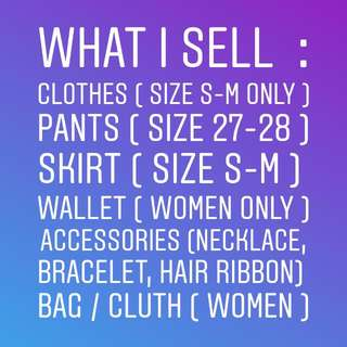 What I Sell