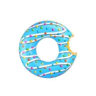 Blue Glazed Ring Doughnut Float / Swimming Pool / Beach Inflatable (76CM) GOOD QUALITY FROM AUSTRALIA
