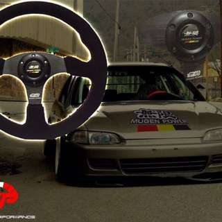 MUGEN POWER STEERING SUEDE HONDA VTEC