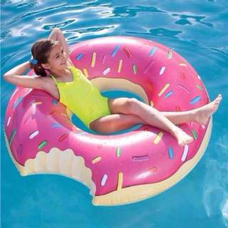 Pink Glazed Doughnut Ring Float / Pool / Swimming / Beach Inflatable (76CM )GOOD QUALITY FROM AUSTRALIA