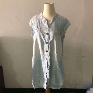 Washed jeans denim blouse