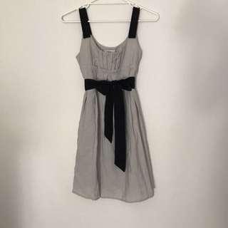 Black Grey Tea Dress