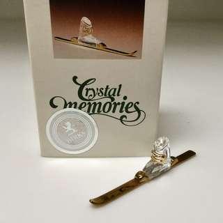 Swarovski Crystal Memories Miniature Ski -  A Precious Collectible