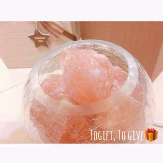 喜馬拉雅玫瑰水晶艾納礦鹽燈 禮盒組🎁