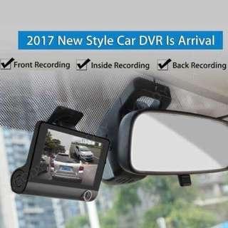 3Lens 4 '' G-sensor HD 1080P Car DVR Dash Cam Video Recorder Rearview Camera