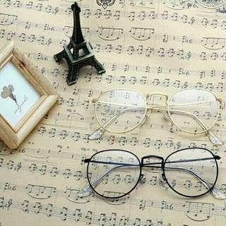 Kacamata frame bulat besi