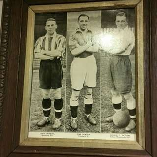 Vintage Photo With Wooden Frame