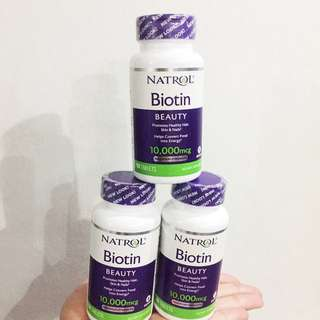 Ready stock Biotin beauty 10,000mcg 100 tablets maximum strength for healthy hair skin nails
