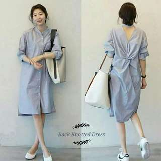 Baju back KNOTTEN DRESS